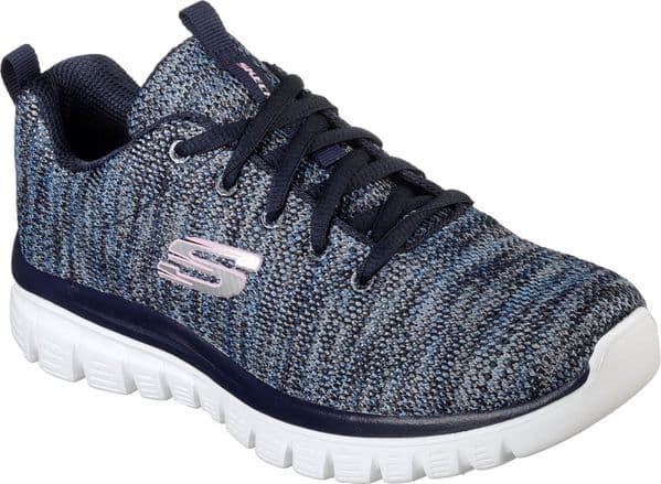 Skechers Graceful Twisted Fortune Ladies Sports Navy / Blue